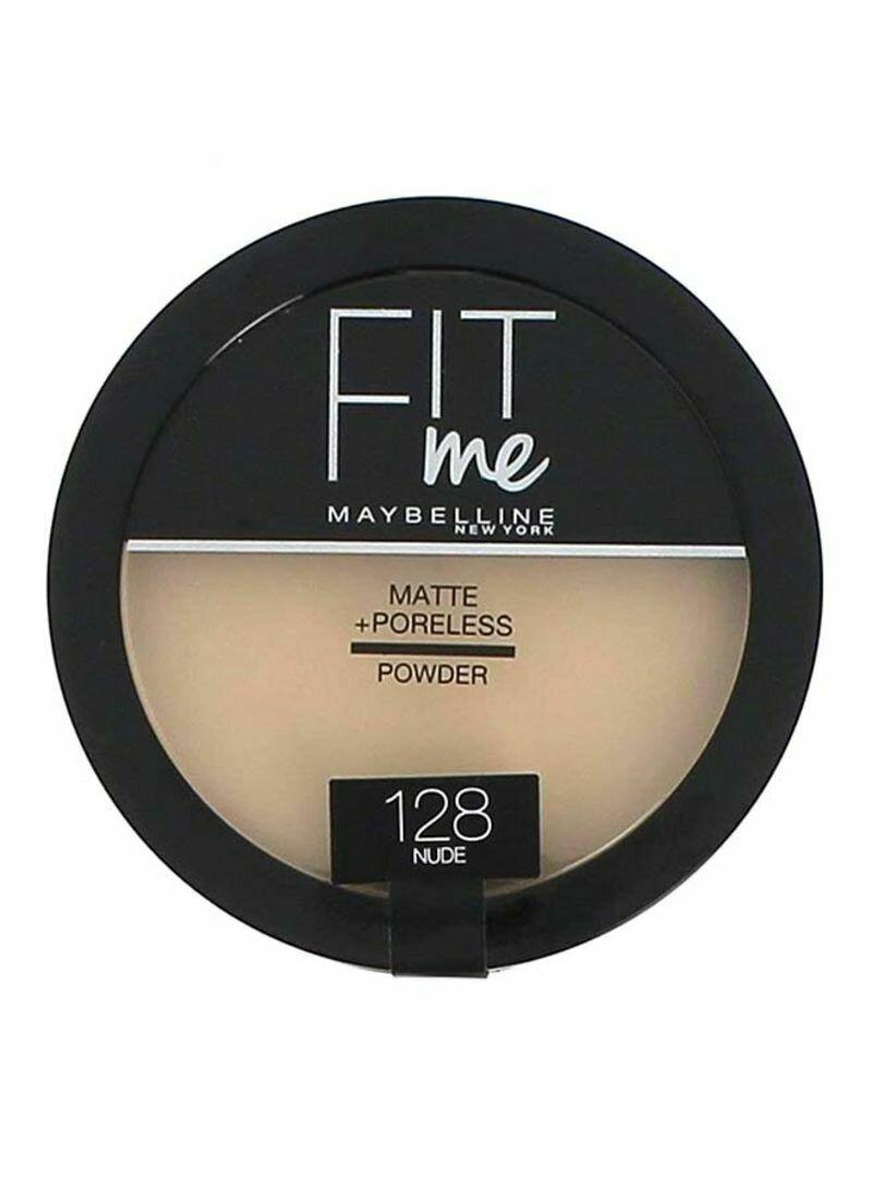 MAYBELLINE FIT ME MATTE PORELESS COMPACT POWDER 128