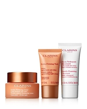 CLARINS SET EXTRA FIRMING DAY & NIGHT & GENTLE FOAMING