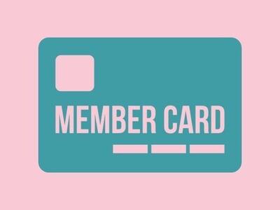 Single Membership Card