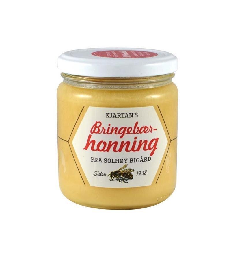 Kjartans bringebær honning - 350g