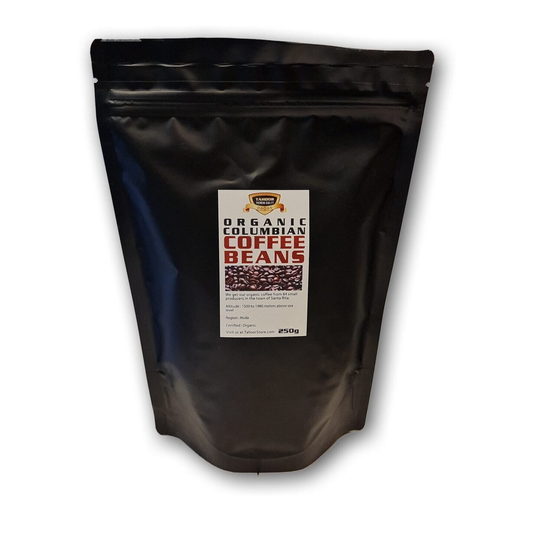 Organic Colombian coffee beans
