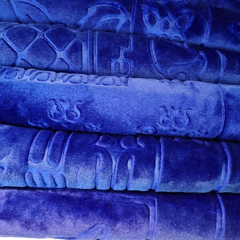Blå bønneteppe
