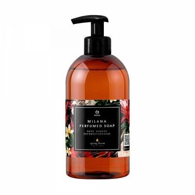 Milana black liquid soap spring bloom, 300 ml