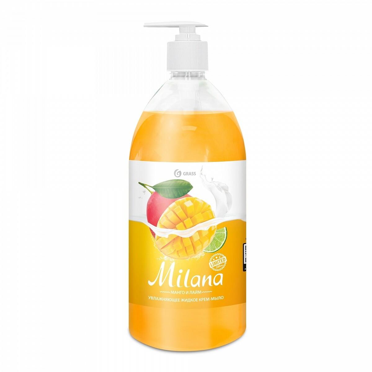 """Жидкое крем-мыло """"Milana"""" манго и лайм, 1 л"""