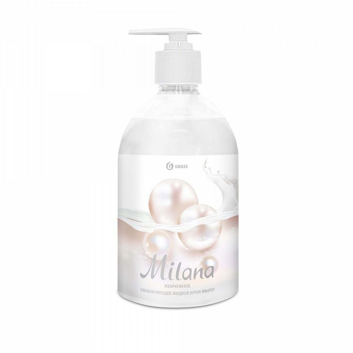 """Жидкое крем-мыло """"Milana"""" жемчужное с дозатором, 500 мл"""
