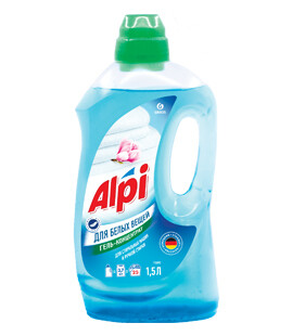 Gel-concentrate for white clothes Alpi white, 1,5 l