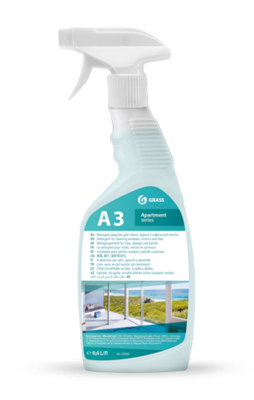 Glass, window, mirror and tile cleaner A3+/A3 apartment series (Ready solution), 750 ml