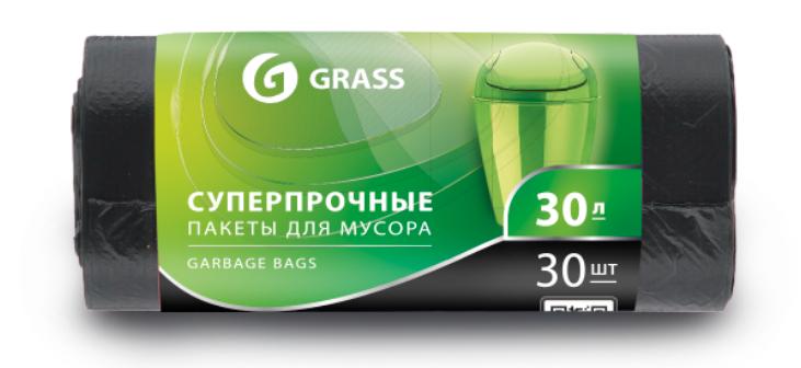 Мешок для мусора ПНД в рулоне 30 л. 55*46 см 10 мкр. в рулоне 30 штук, черный цвет