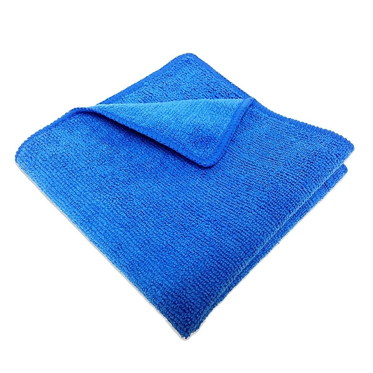 Салфетка микрофибра 220 г/м 30*30 см, цвет синий