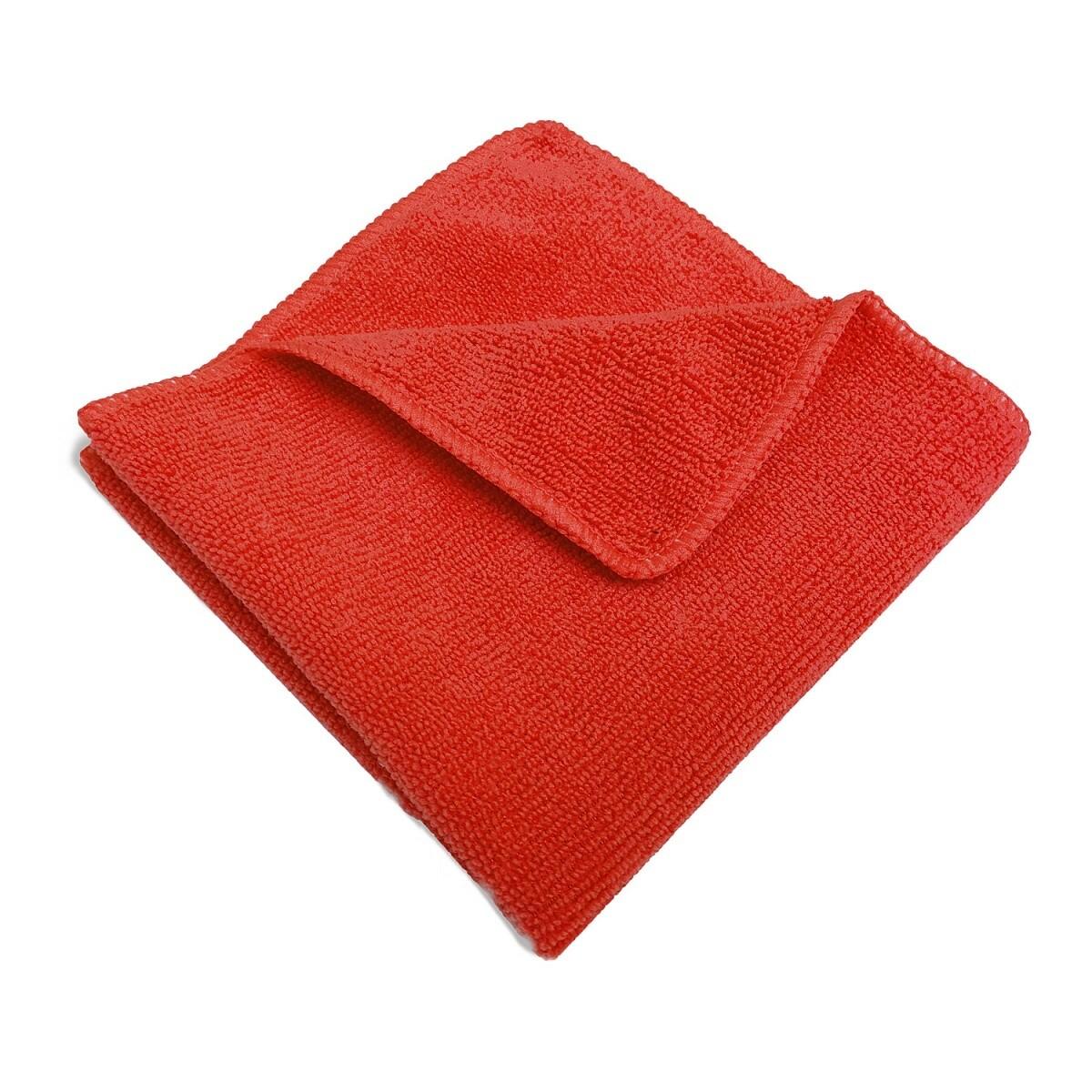 Салфетка микрофибра 220 г/м 30*30 см, цвет красный