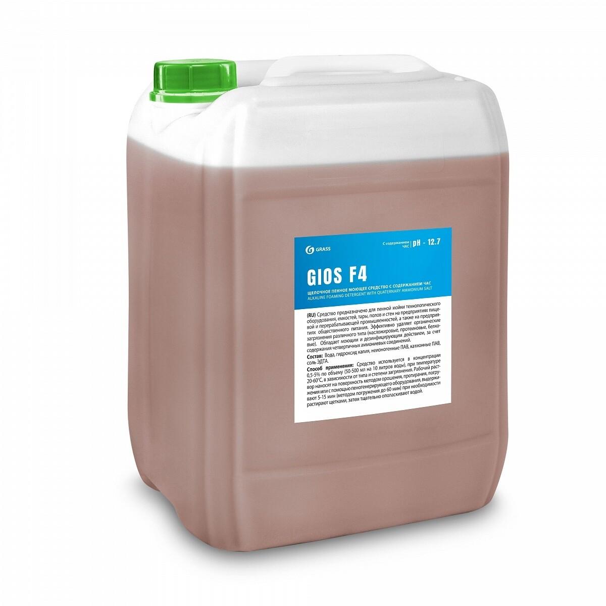 Щелочное пенное моющее средство с содержание ЧАС GIOS F4