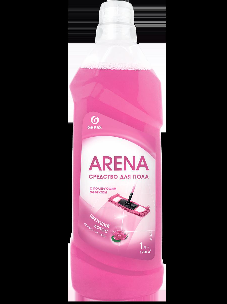 """Средство для пола с полирующим эффектом """"ARENA"""" цветущий лотос, 1 л"""