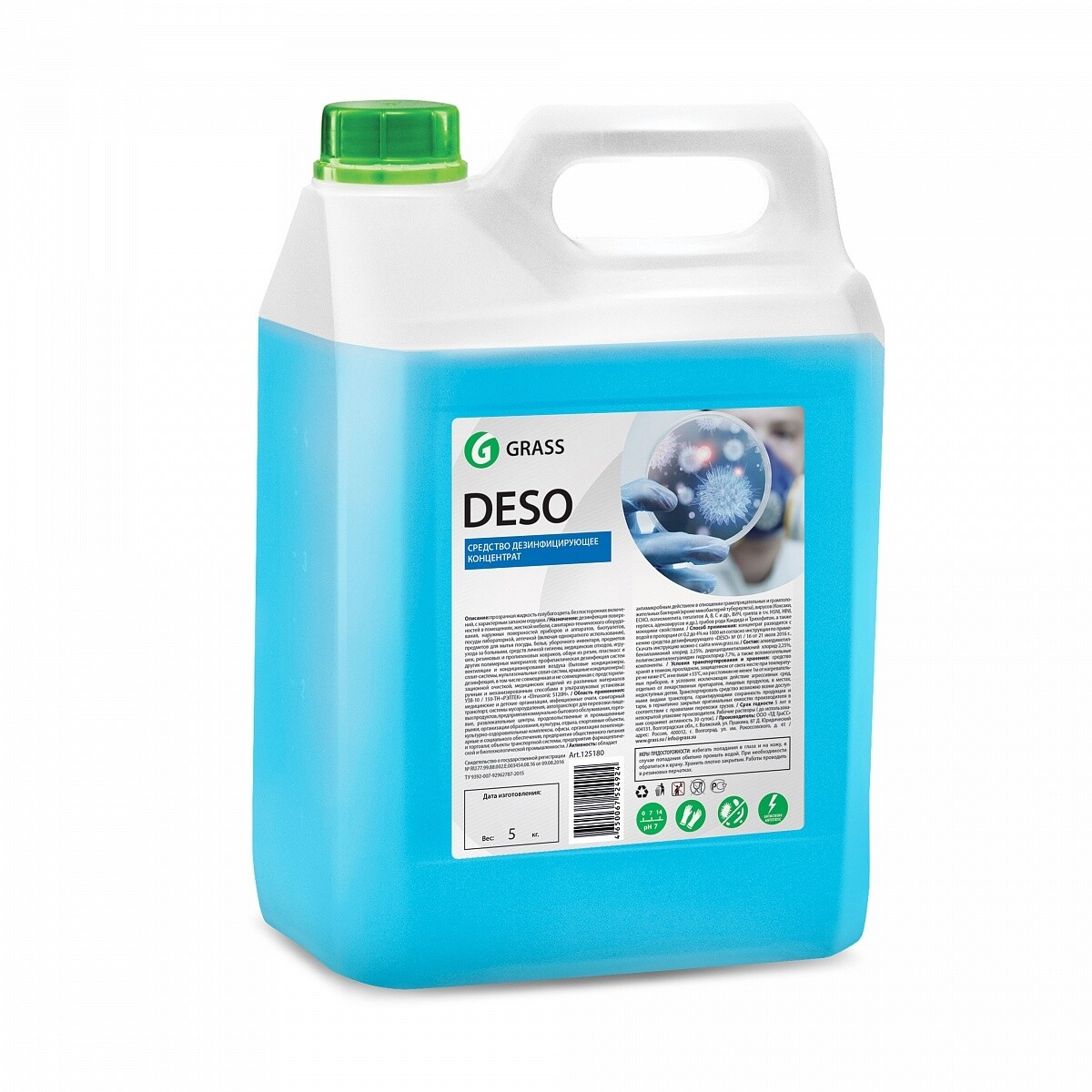 Detergent for disinfection with a wide spectrum of application Deso, 5 l