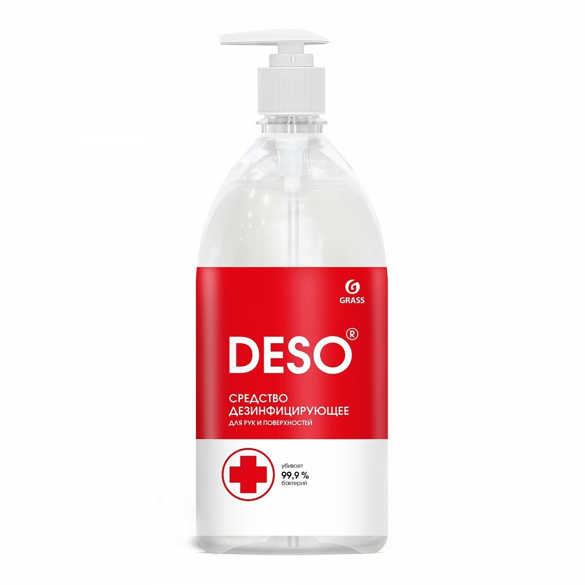 Дезинфицирующее средство DESO для рук и поверхностей, без спирта, 1 л