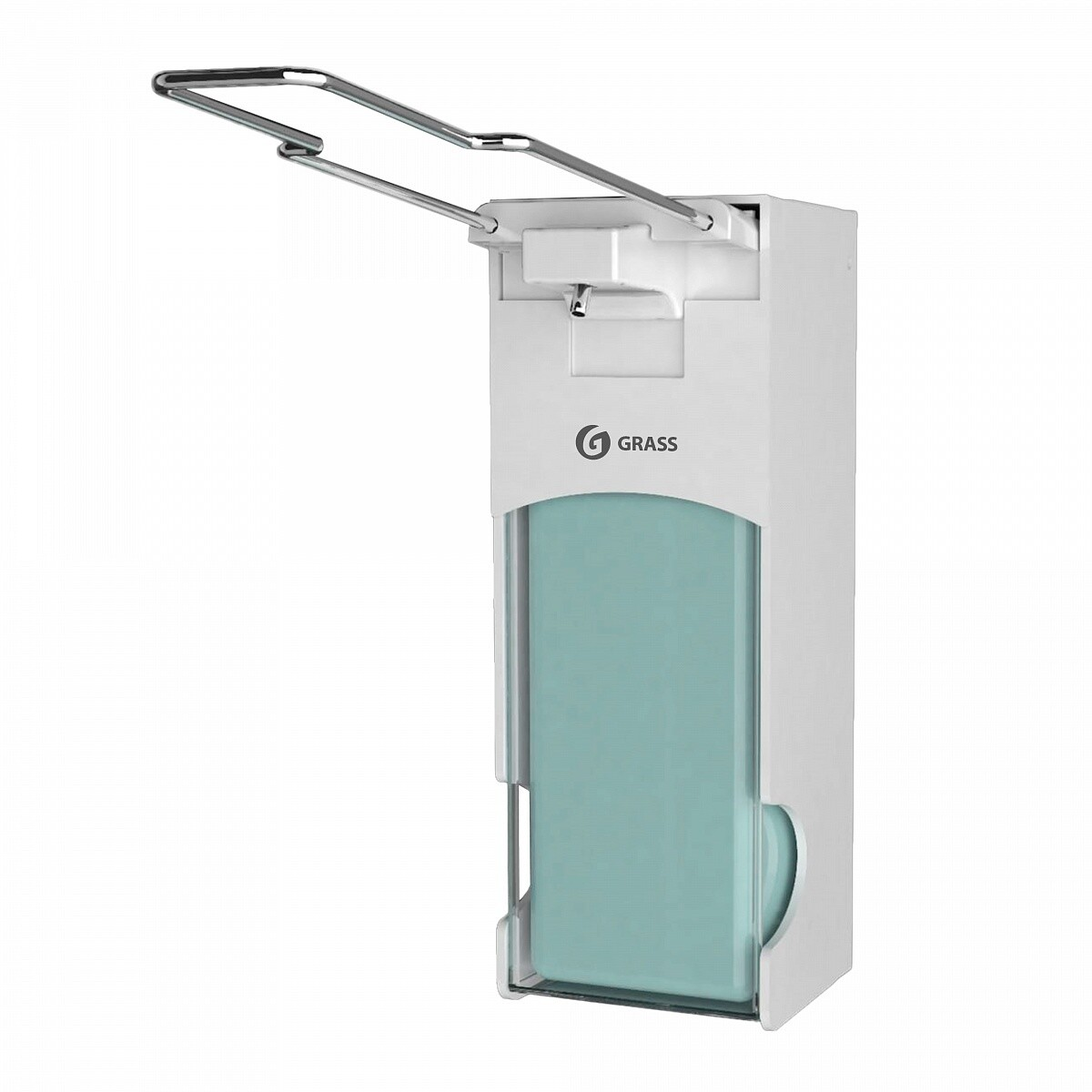 Пластиковый диспенсер локтевой для мыла и дезинфицирующих средств
