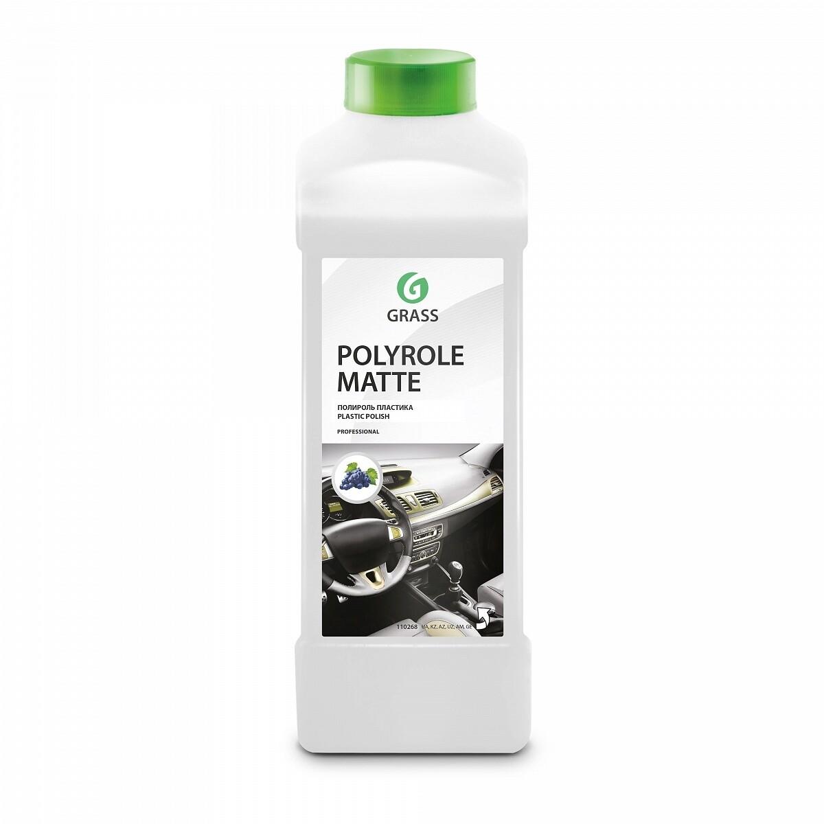 """Полироль-очиститель пластика """"Polyrole Matte"""" матовый блеск с ароматом винограда, 1 л"""