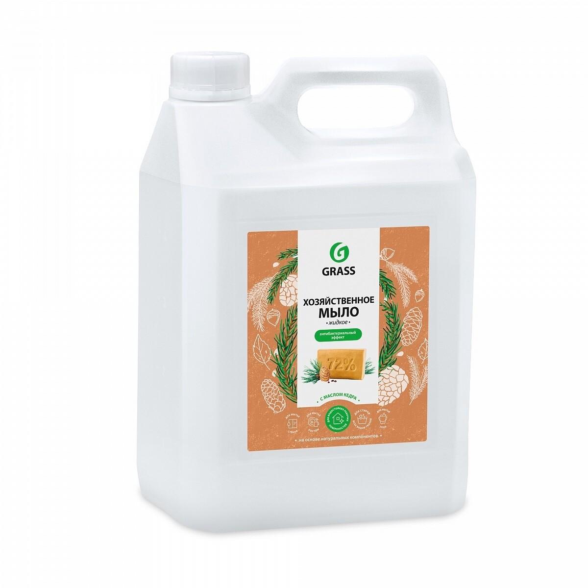 Мыло жидкое хозяйственное с маслом кедра, 5 л