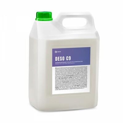 Дезинфицирующее средство на основе изопропилового спирта DESO C9, гель, 5 л