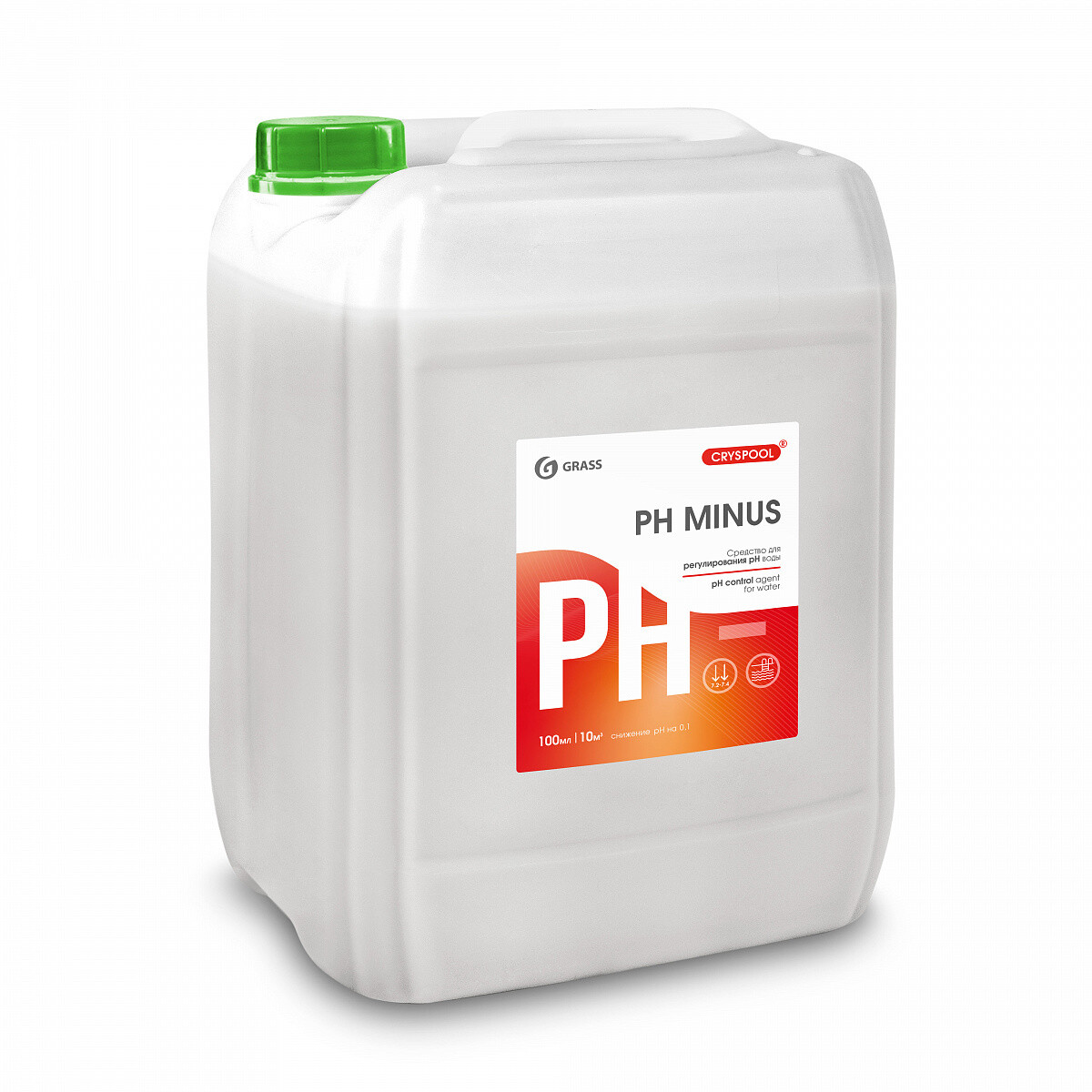 Средство для регулирования pH воды CRYSPOOL pH minus, канистра 23 кг