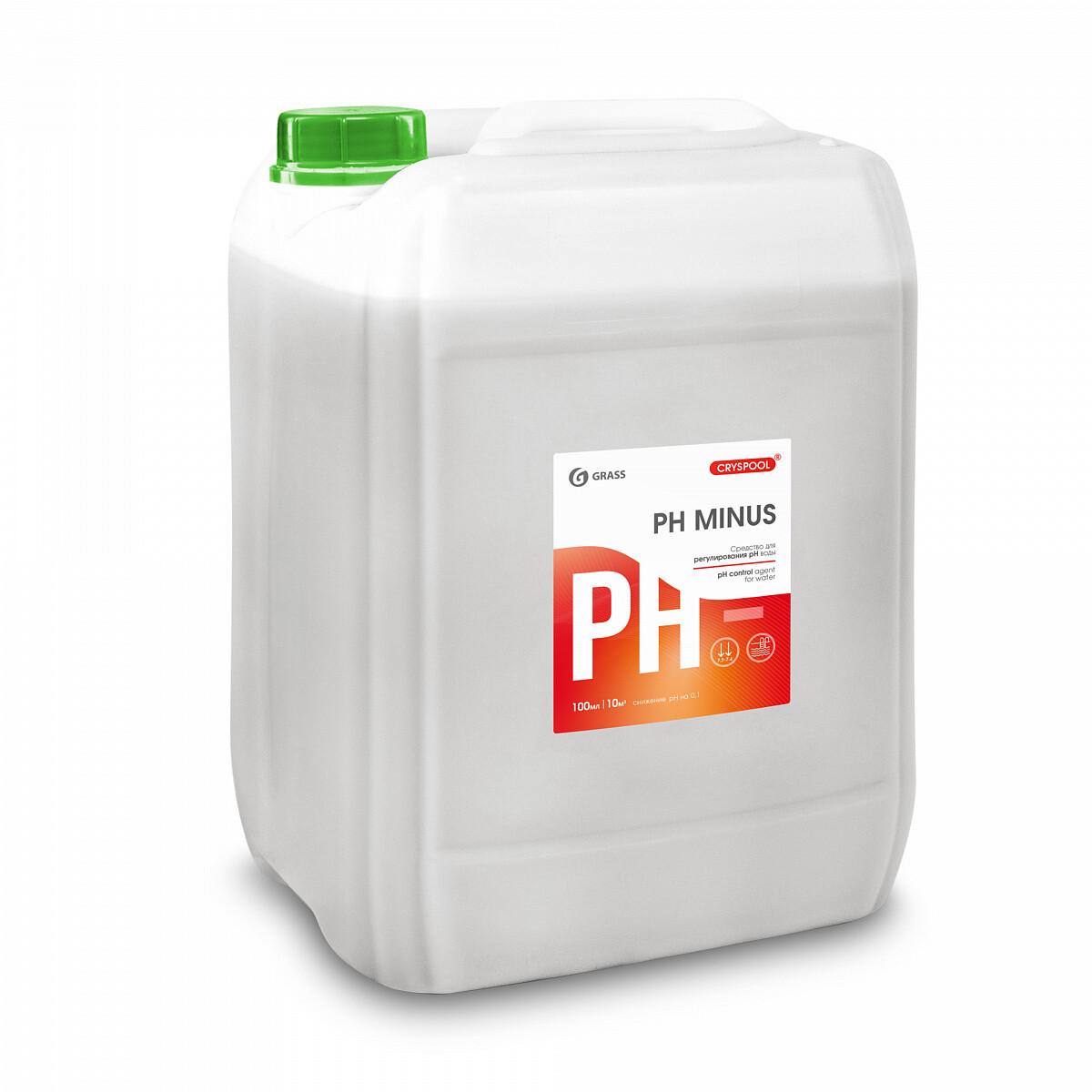 Средство для регулирования pH воды CRYSPOOL pH minus, канистра 35 кг