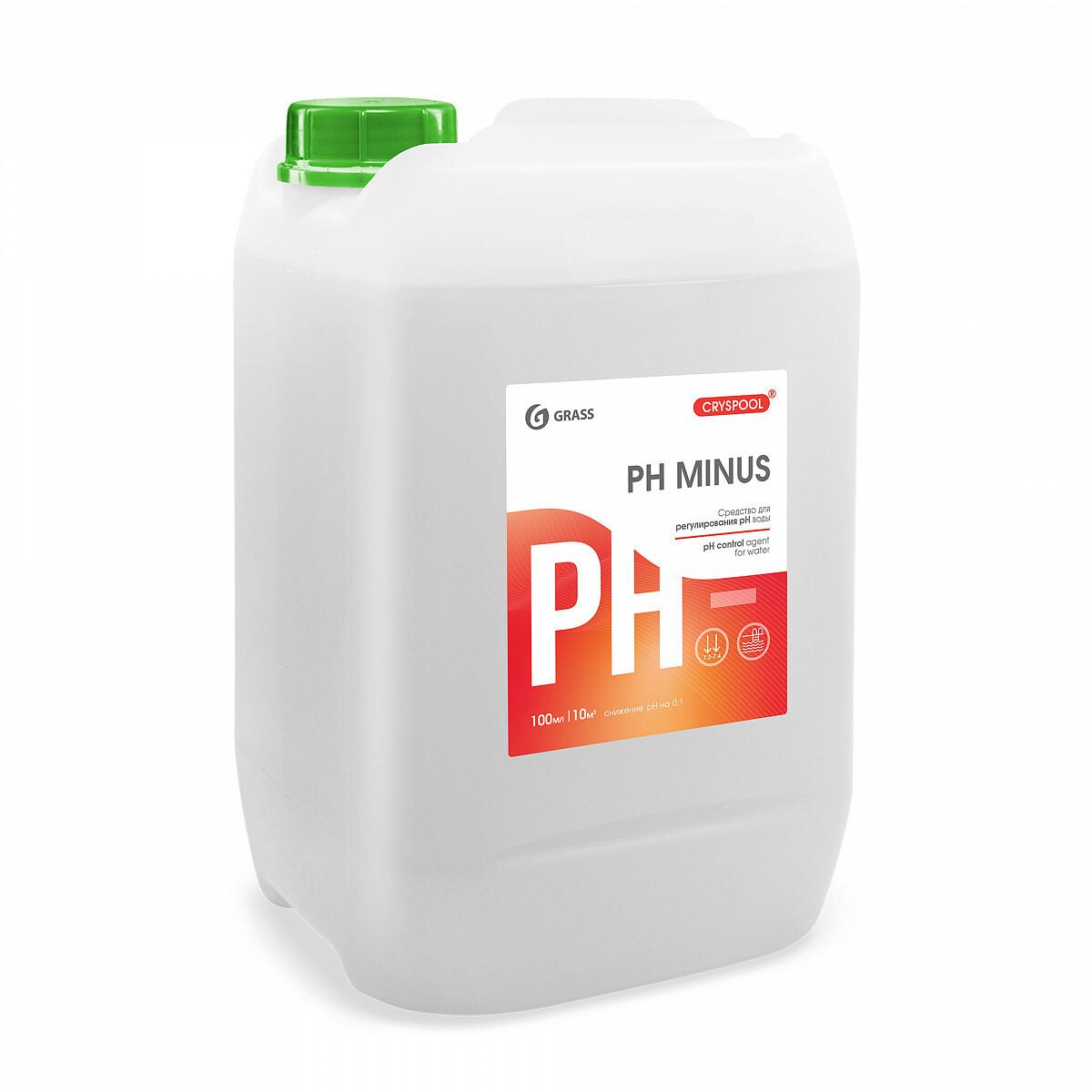 Средство для регулирования pH воды CRYSPOOL pH minus, канистра 12 кг