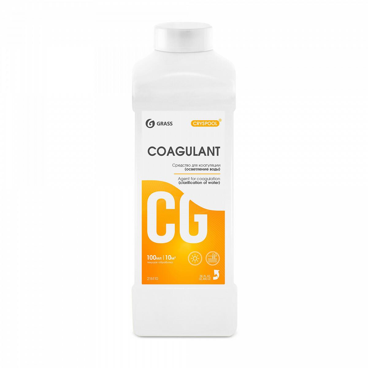 Средство для коагуляции (осветления) воды CRYSPOOL Coagulant, 1 л
