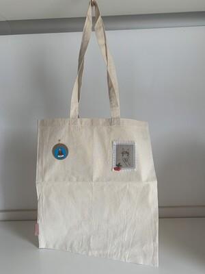Tote Bag Sac en toile brodé alpaga