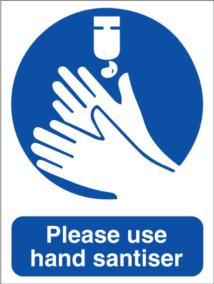 Social Distance Wash Hands Sticker 200mm x 150mm