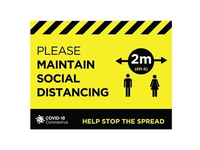 Social Distance Window Graphic 300mm x 230mm