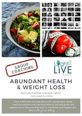 Abundant Health and Weight Loss Group Coaching (Starting 12 January 2020)