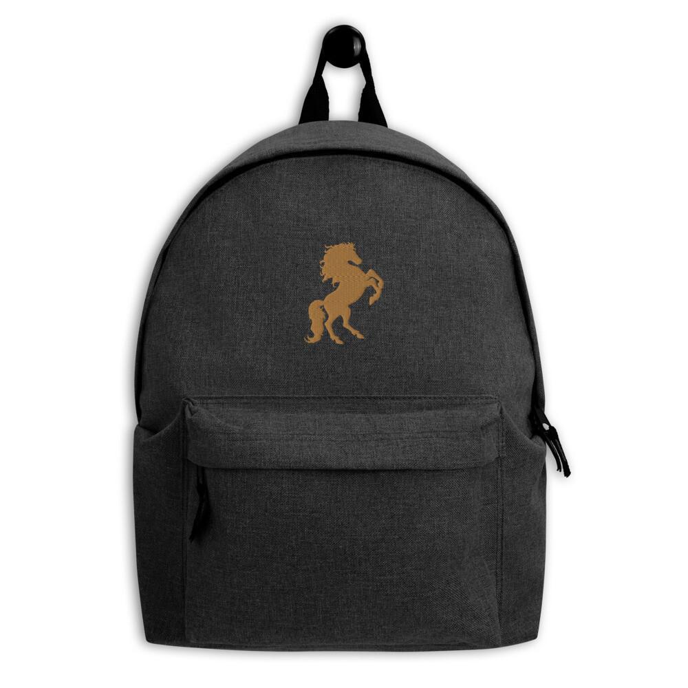 Italian Stallion Embroidered Backpack