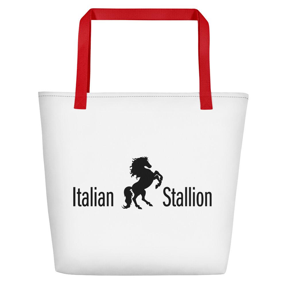 Italian Stallion Beach Bag