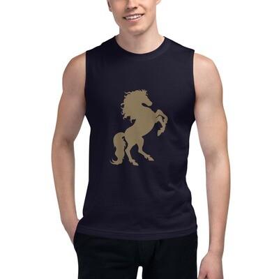 Italian Stallion Muscle Shirt Gold Stallion