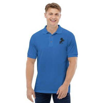 Italian Stallion Embroidered Polo Shirt Prancing Stallion
