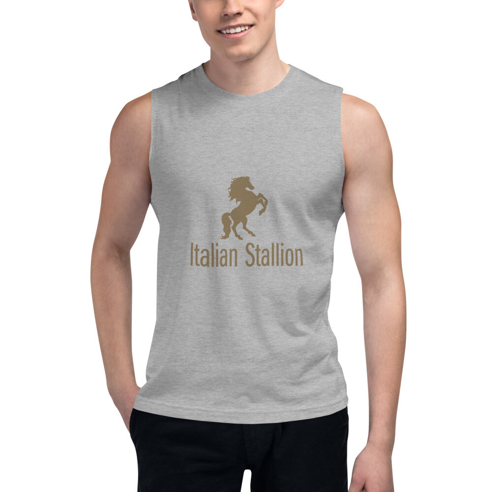 Italian Stallion Muscle Shirt (Gold)