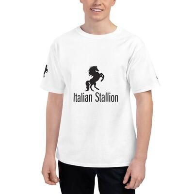 Italian Stallion Men's Champion T-Shirt Printed Sleeve