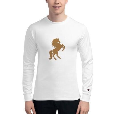 Italian Stallion Men's Champion Long Sleeve Shirt (Gold Stallion)