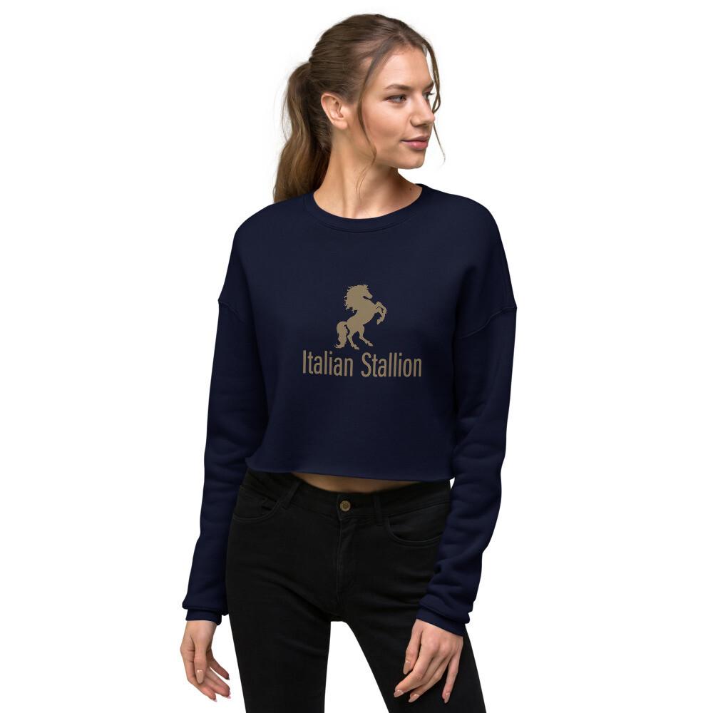 Italian Stallion Crop Sweatshirt