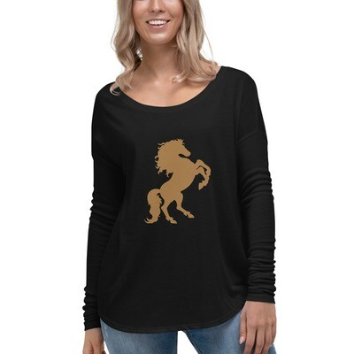 Italian Stallion Ladies' Long Sleeve Tee