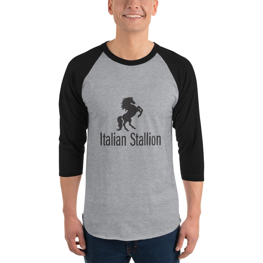 Italian Stallion 3/4 sleeve raglan shirt