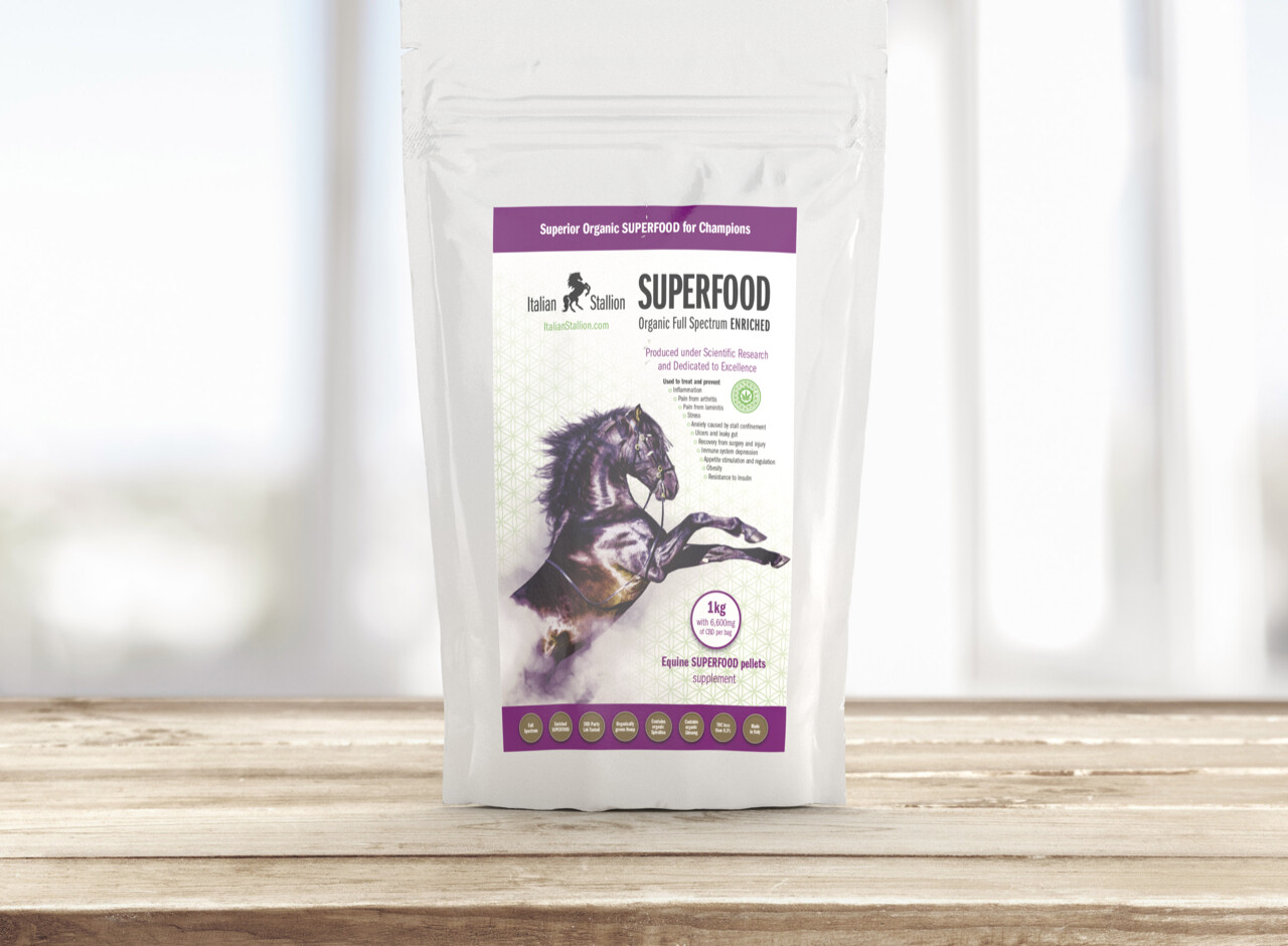 Italian Stallion 1kg Equine SUPERFOOD pellets supplement