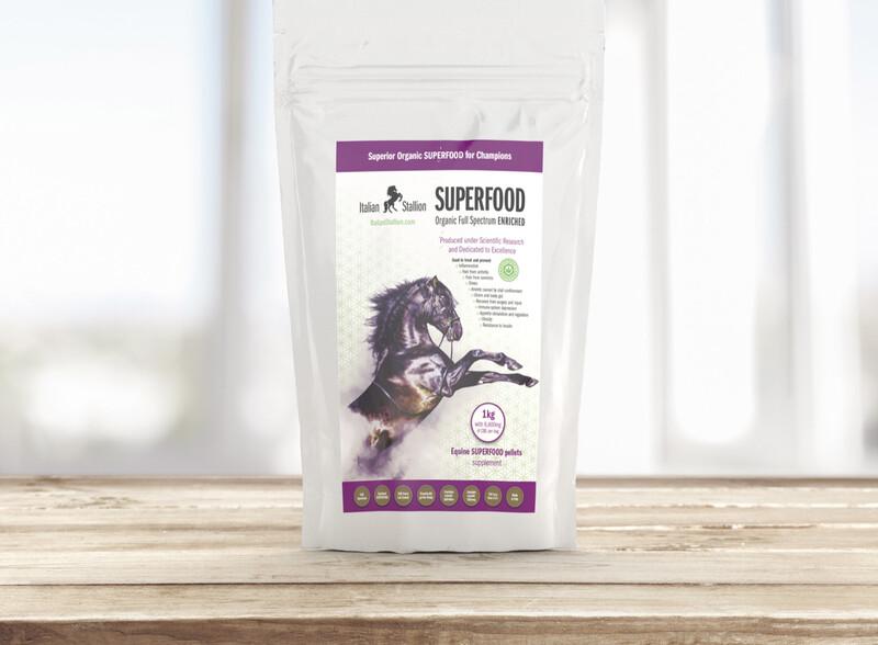 Italian Stallion 1kg Equine SUPERFOOD pellets supplement