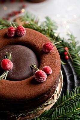 Bûche glacée Framboise-Chocolat