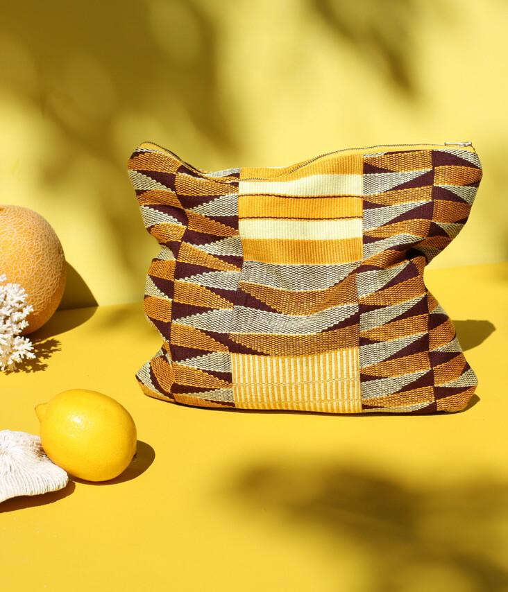 Pochette Kente Choco / Banane