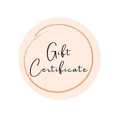 Gift Certificate - 60 min.