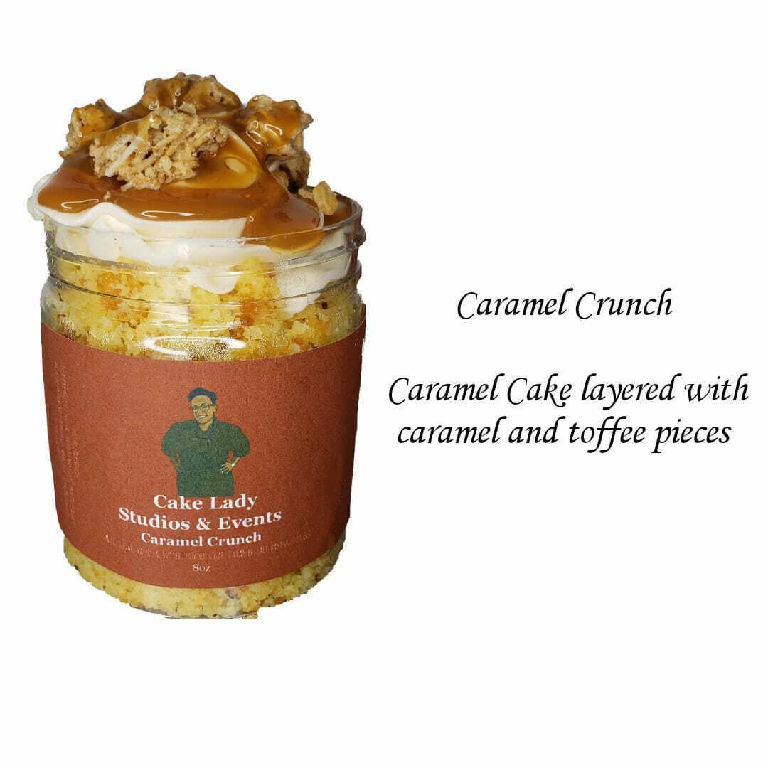 Caramel Crunch Cake Jar