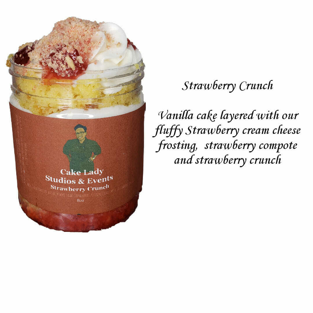 Strawberry Crunch Cake Jar