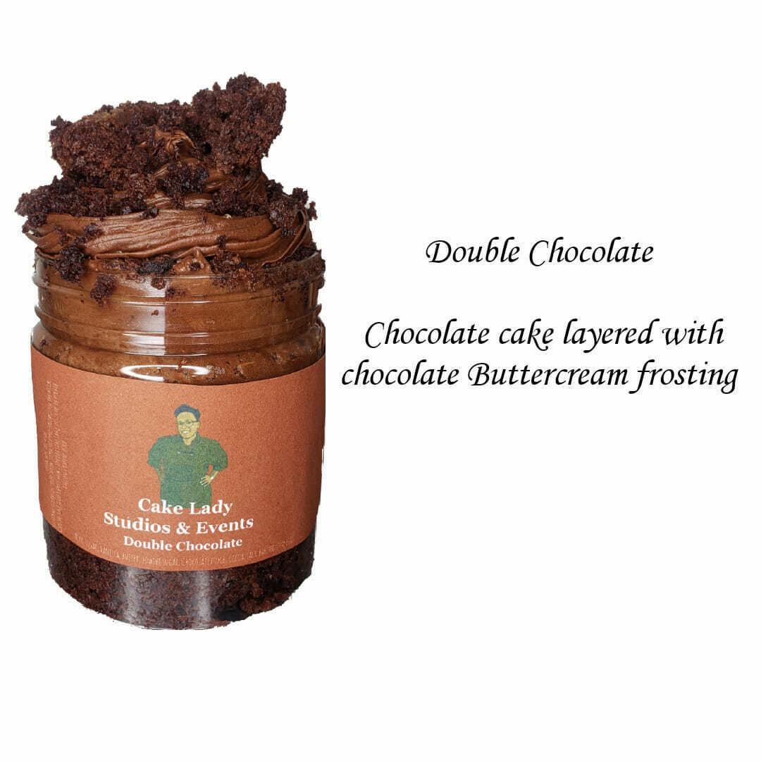 Double Chocolate Cake Jar