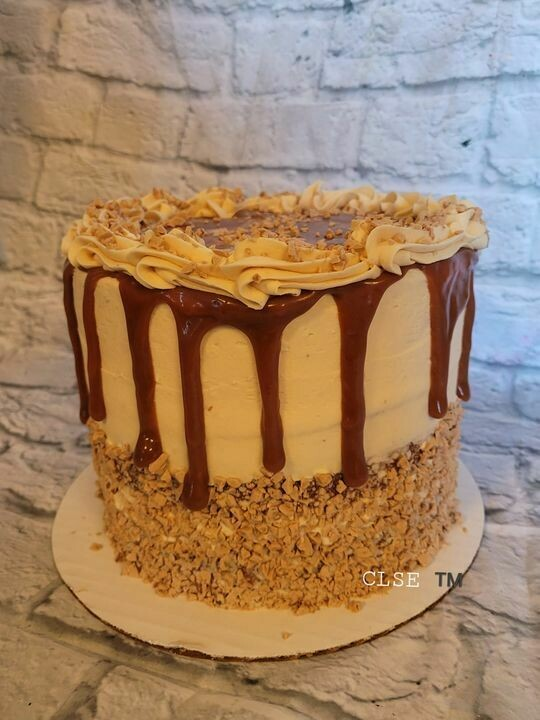 Caramel Crunch Cake ( In state deliver or pick up only)