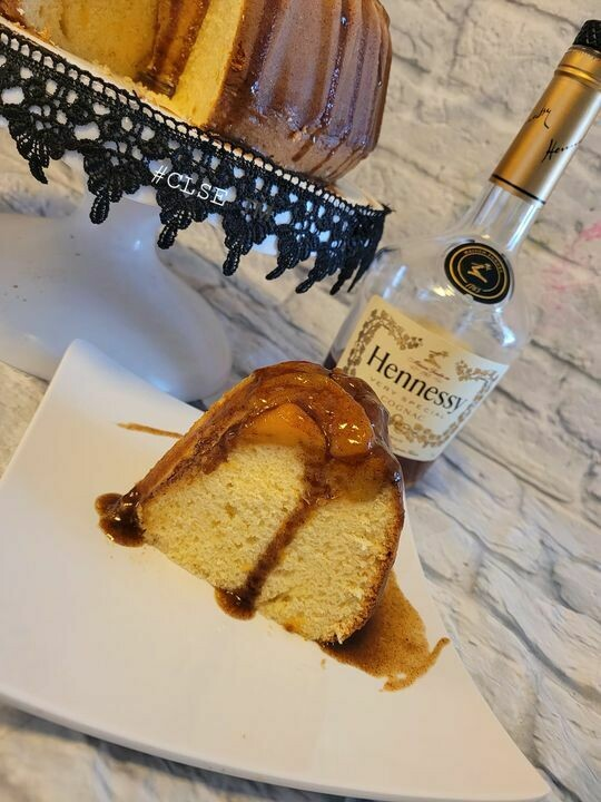 Peach Cobbler Pound Cake with Cognac Drizzle ( In state delivery or pick up only)